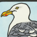 Detail of Herring Gull card by Chandler O'Leary