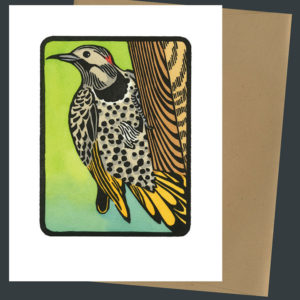 Northern Flicker card by Chandler O'Leary