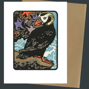 Tufted Puffin card by Chandler O'Leary