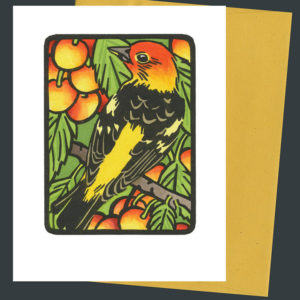Western Tanager card by Chandler O'Leary