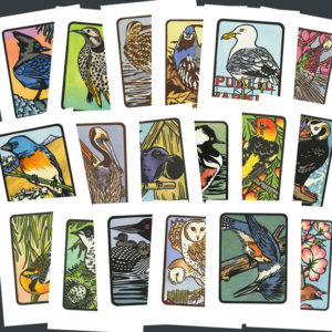 """""""Flock"""" bird cards by Chandler O'Leary"""