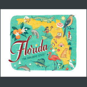 Florida illustration by Chandler O'Leary