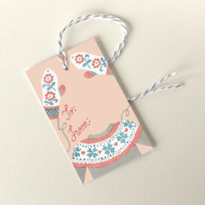 Knitting holiday gift tags by Chandler O'Leary