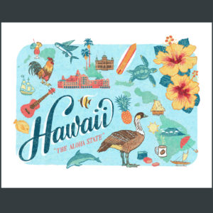 Hawaii illustration by Chandler O'Leary