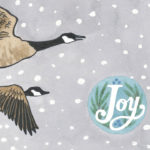 Holiday card illustrated by Chandler O'Leary