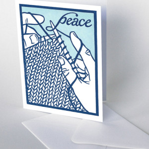 Hand-lettered knitting card by Chandler O'Leary