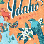 Detail of Idaho illustration by Chandler O'Leary