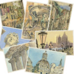 Italy postcards illustrated by Chandler O'Leary