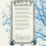 """Crows, No. 3"" letterpress broadside; text by J. Arron Small, illustrations by Chandler O'Leary"