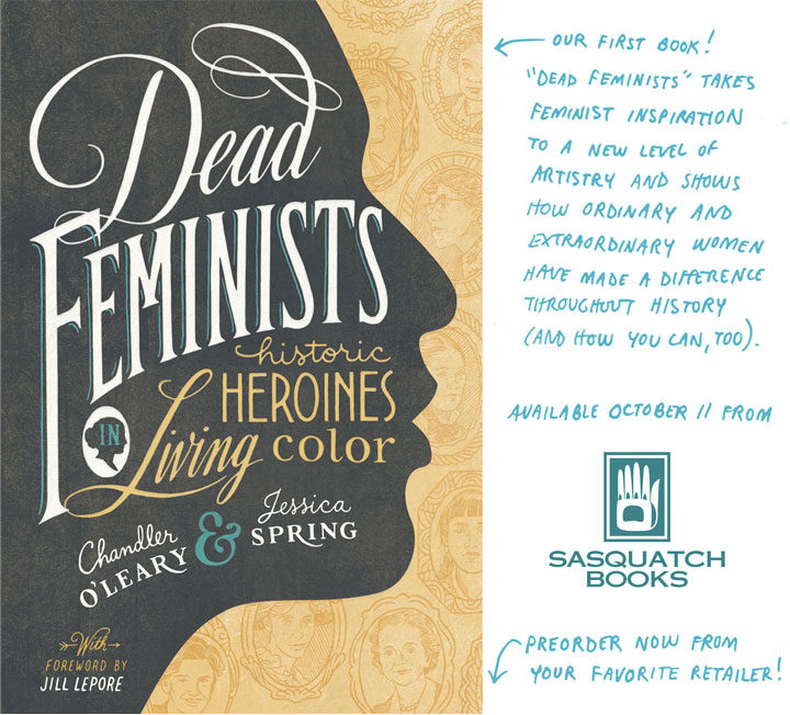Dead Feminists book by Chandler O'Leary and Jessica Spring
