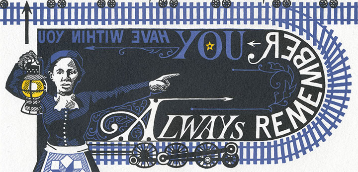 """Detail of """"End of the Line"""" letterpress broadside by Chandler O'Leary and Jessica Spring"""