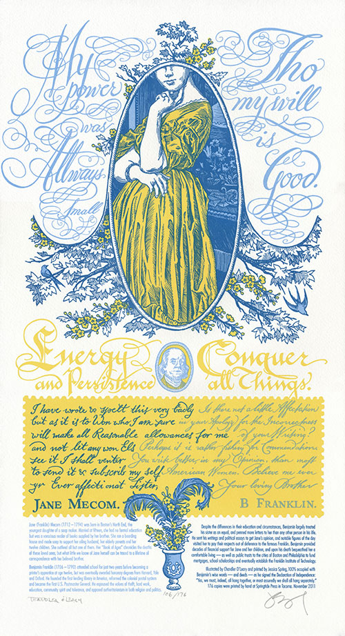 """Signed, Sealed, Soapbox"" letterpress broadside by Chandler O'Leary and Jessica Spring"