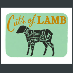 Farm to Table - Cuts of Lamb print by Chandler O'Leary