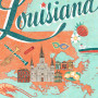 Detail of Louisiana illustration by Chandler O'Leary