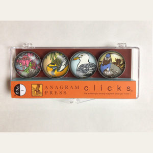 "iPop ""Clicks"" magnets illustrated by Chandler O'Leary"