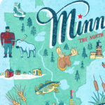 Detail of Minnesota illustration by Chandler O'Leary