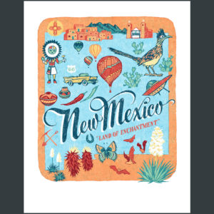New Mexico illustration by Chandler O'Leary