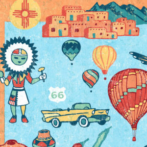 Detail of New Mexico illustration by Chandler O'Leary