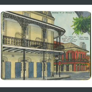 New Orleans sketchbook print by Chandler O'Leary