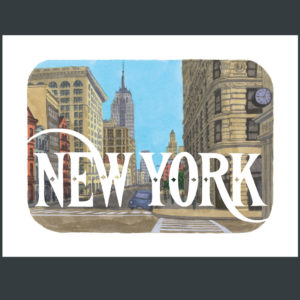 New York print by Chandler O'Leary