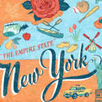 Detail of New York illustration by Chandler O'Leary