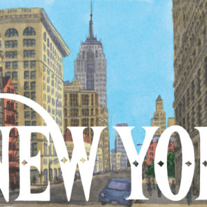 Detail of New York print by Chandler O'Leary