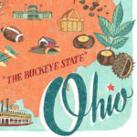 Detail of Ohio illustration by Chandler O'Leary