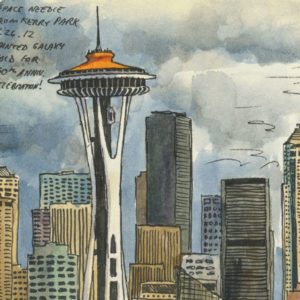 Seattle sketchbook print by Chandler O'Leary