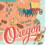 Detail of Oregon illustration by Chandler O'Leary