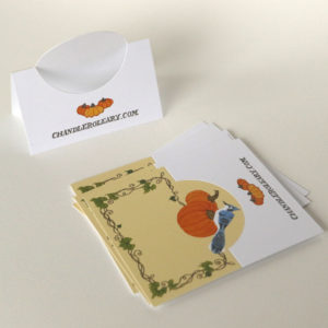 Autumn Pumpkin pop-up place cards by Chandler O'Leary