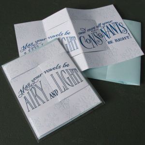 Igloo Letterpress pop-up holiday card illustrated by Chandler O'Leary