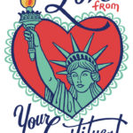 Constituent's Valentine illustrated and hand-lettered by Chandler O'Leary