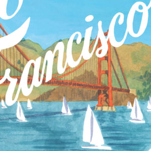 Detail of San Francisco print by Chandler O'Leary