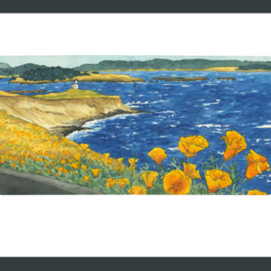 San Juan Island sketchbook print by Chandler O'Leary