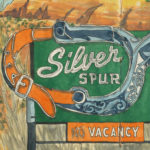 Silver Spur Sign sketchbook print by Chandler O'Leary