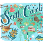 Detail of South Carolina illustration by Chandler O'Leary