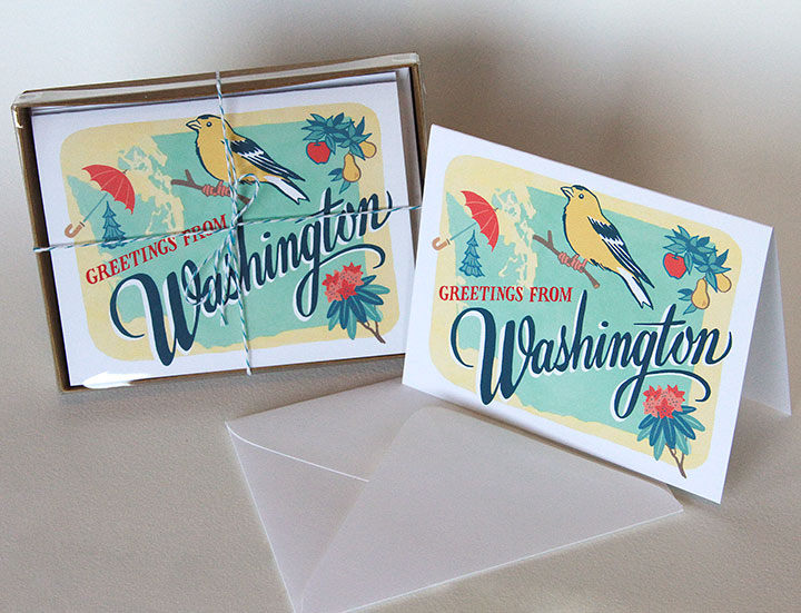 Washington state cards by Chandler O'Leary