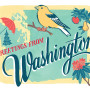 Washington state card by Chandler O'Leary