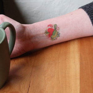 Painted Bunting temporary tattoo by Chandler O'Leary