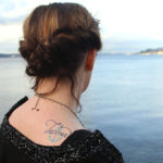 Tacoma temporary tattoo illustrated and hand-lettered by Chandler O'Leary