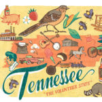 Detail of Tennessee illustration by Chandler O'Leary