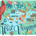 Detail of West Virginia illustration by Chandler O'Leary