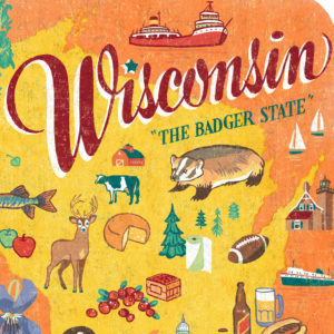 Detail of Wisconsin illustration by Chandler O'Leary