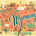 Detail of Wyoming illustration by Chandler O'Leary
