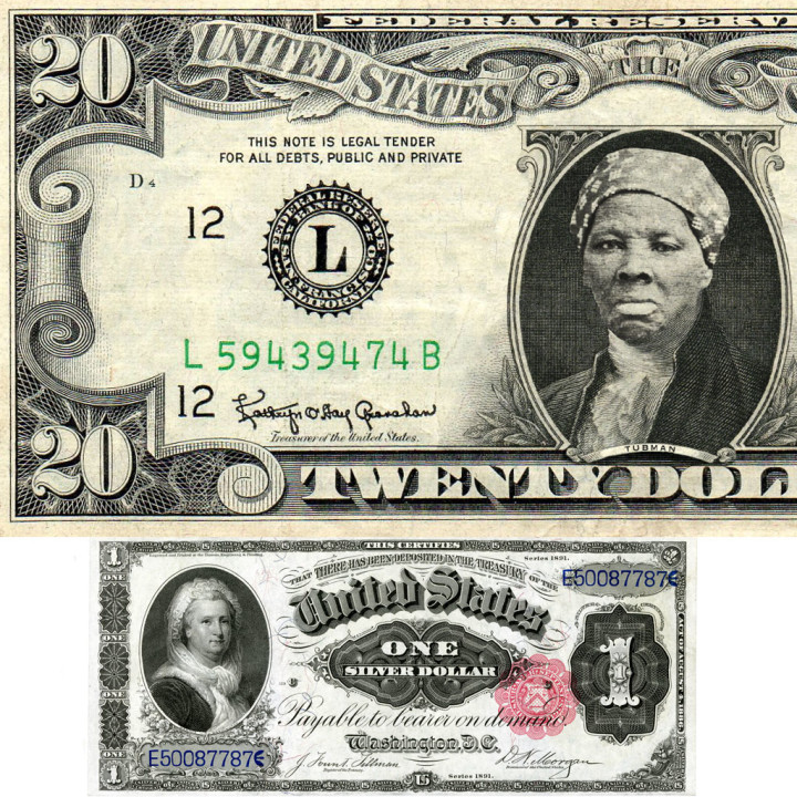 Harriet Tubman on the reimagined $20 bill