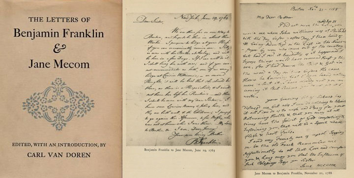 The letters of Benjamin Franklin and Jane Mecom