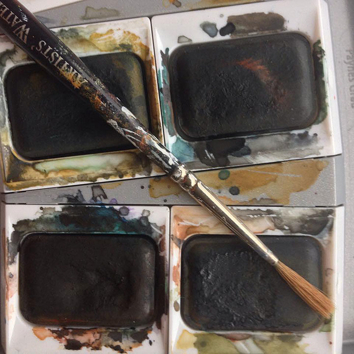 The palette of a woman artist, the day after the 2016 election.