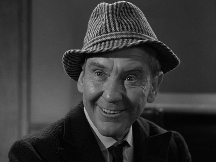 "Burgess Meredith in the Twilight Zone episode ""Printer's Devil"""