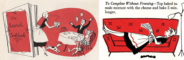 Vintage cookbook illustrations