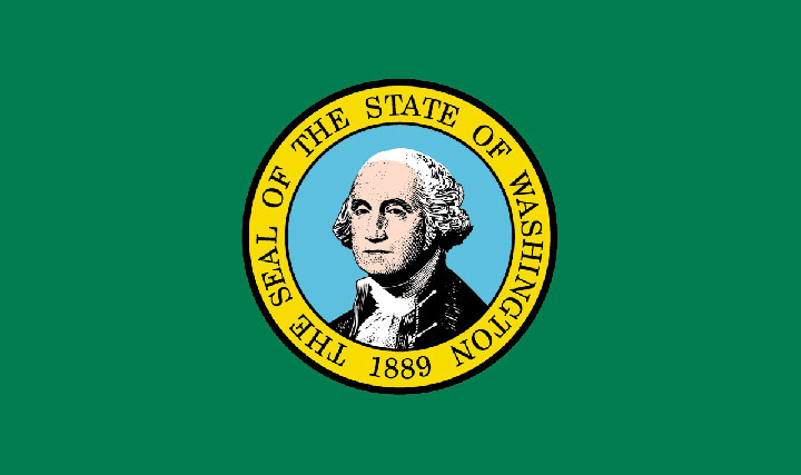 Example of bad flag design: the flag for Washington state